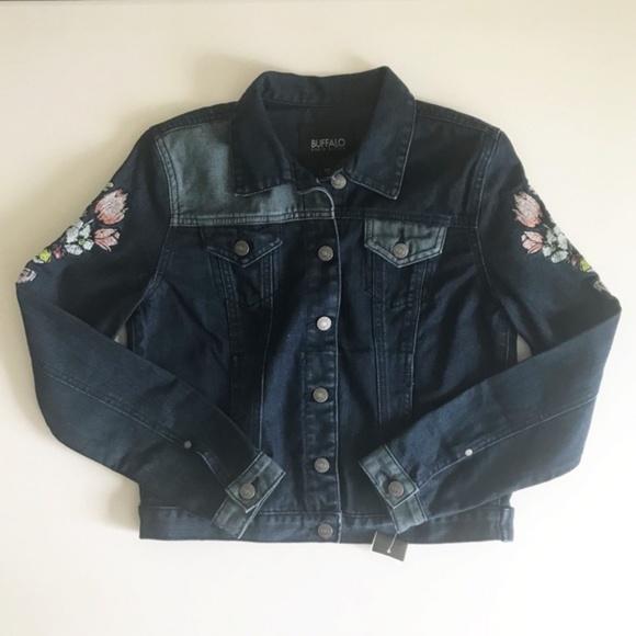 Buffalo David Bitton Jackets & Blazers - Buffalo David Bitton Embroidered Jean Jacket Sz S